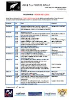 ICA All Points Rally Programme
