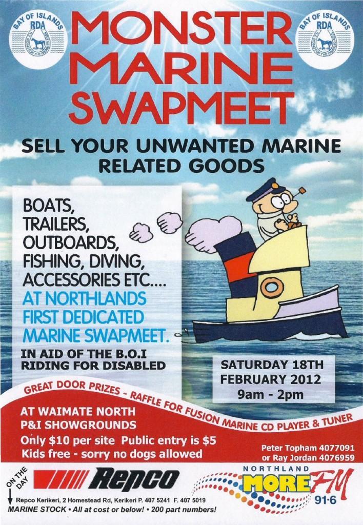 Monster Marine Swapmeet - Waimate North - Saturday 18th February