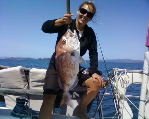 Snapper fishing contest at Opua Cruising Club